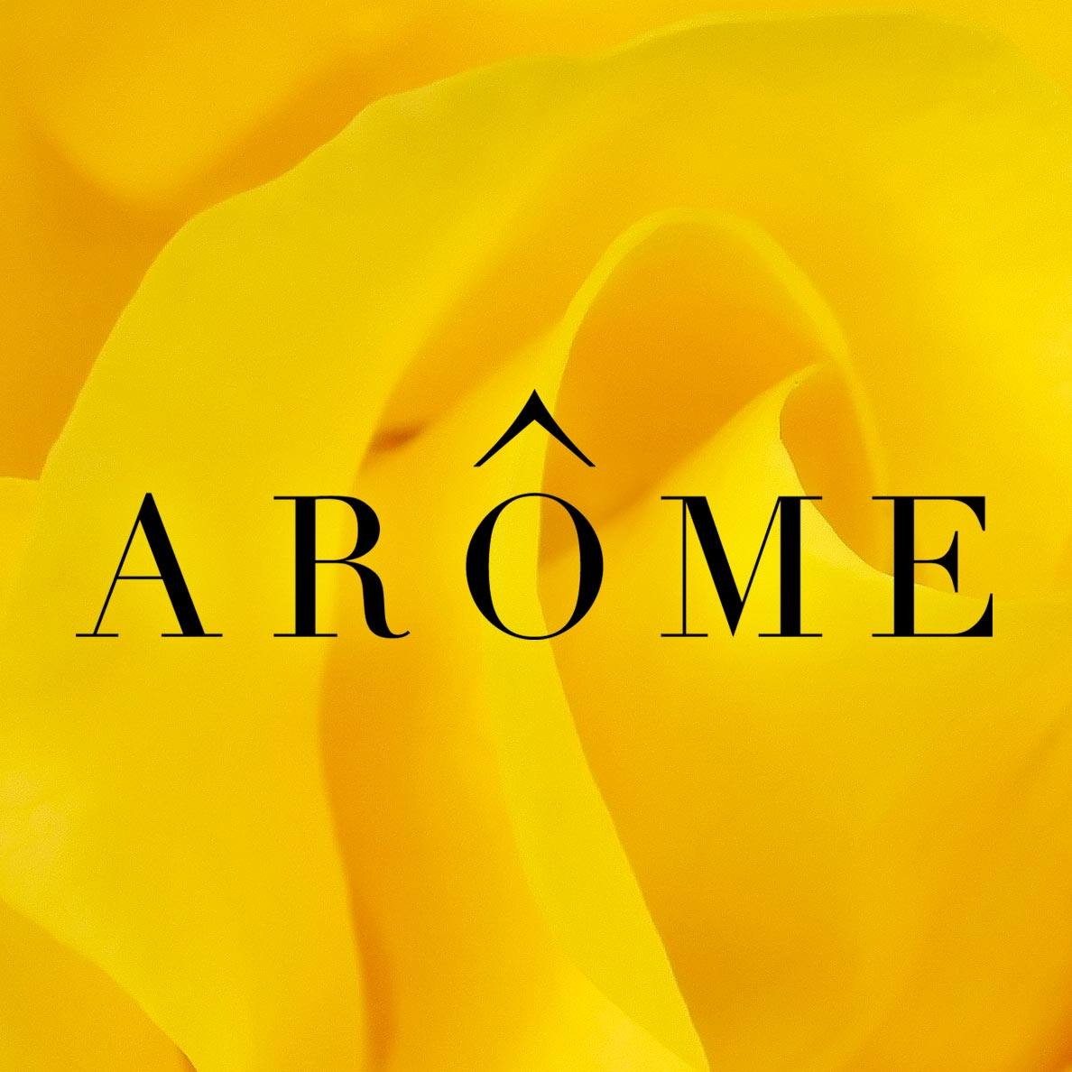 Retail branding for international florist Arôme
